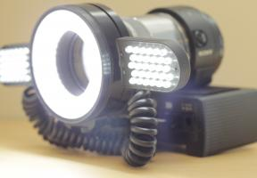 Sony DSC-QX1 with Doctors Eyes LED Light - On