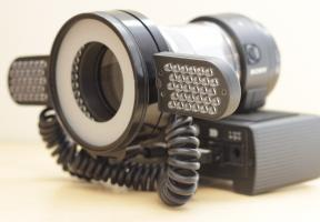 Sony DSC-QX1 with Doctors Eyes LED Light - Off