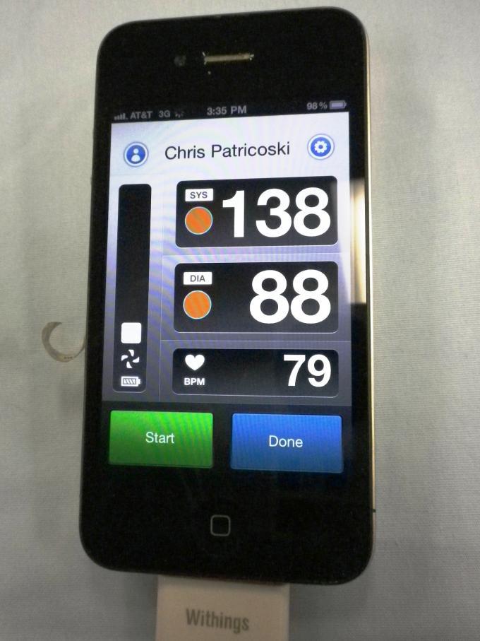 Mobile BP - Withings BP Display